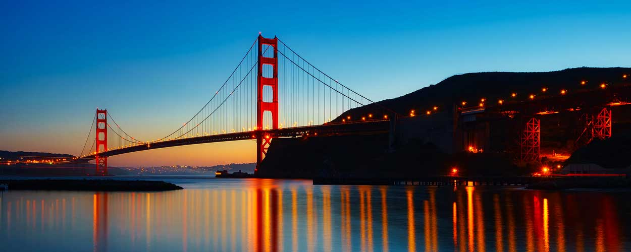kalifornien-usa-fernreise-golden-gate-bridge-abends